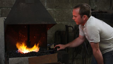 Paul at the forge.